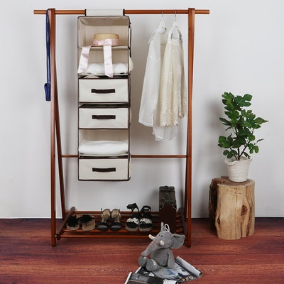 StorageWorks Hanging Closet Organizer With Drawers
