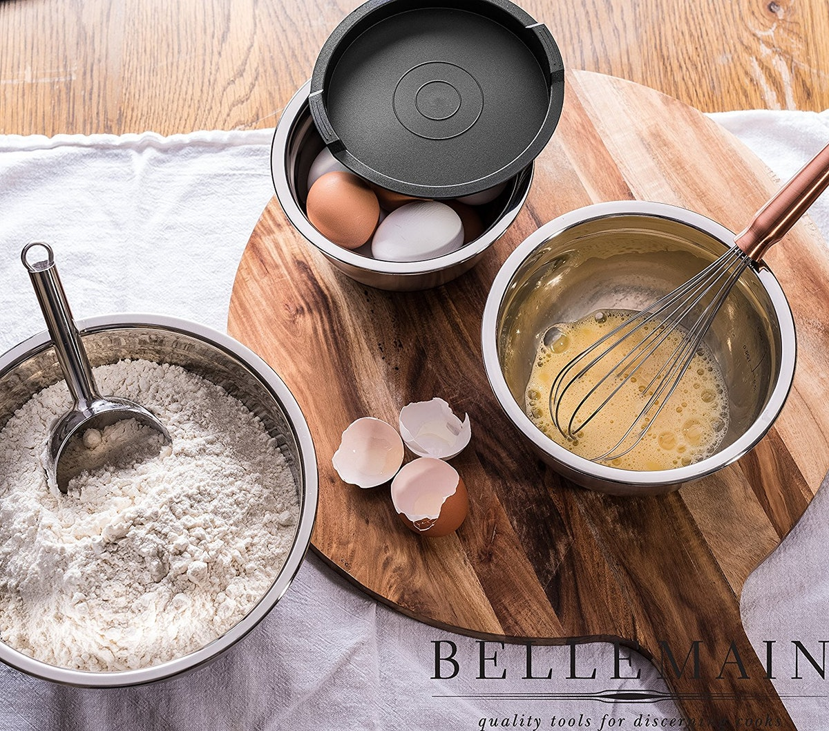 Bellemain Stainless Steel Mixing Bowls (Set of 8)