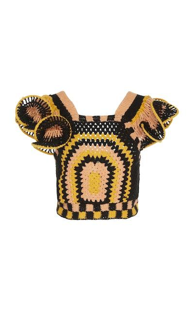 Caia Crocheted Cotton Top