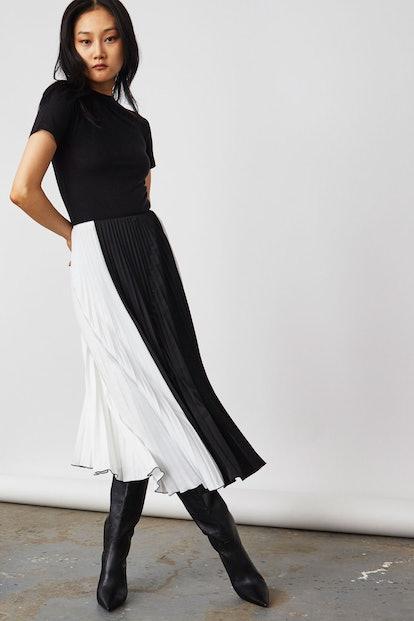 Pleated Halo Skirt