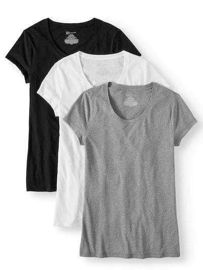 No Boundaries Juniors' Short Sleeve Tee 3-Pack Value Bundle