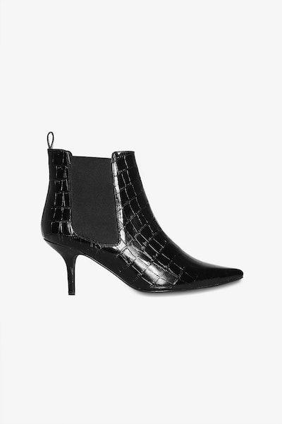 Black Croco Stevie Boots
