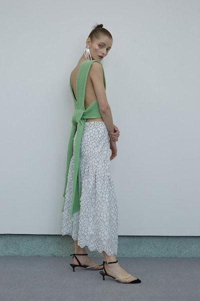 Sylvia Knit Open-Back Vest