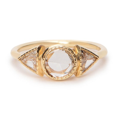 Diamond Spear Engagement Ring
