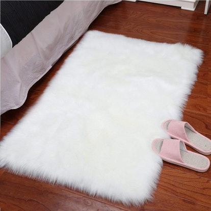 YJ.GWL Faux-Sheepskin Fur Area Rug