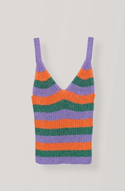 Lurex Striped Knitted Tank