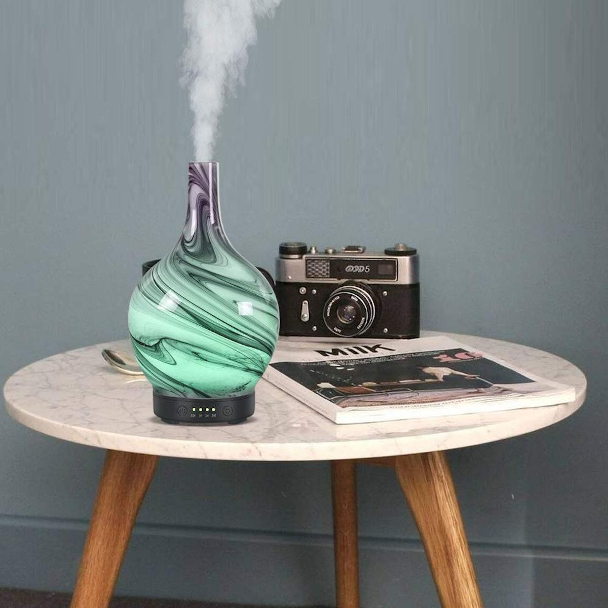 Glass Art Vase Oil Diffuser