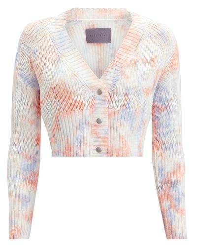 Nalon Tie-Dye Cropped Cardigan