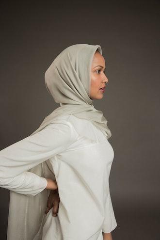 Silver Essential Silk Hijab