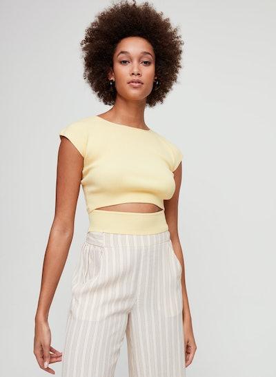 Yacine Cut-Out Knit Crop Top