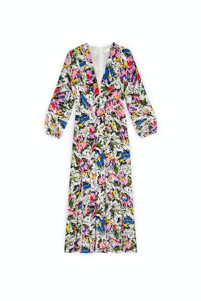 Floral Daisy Camellia Midi Dress