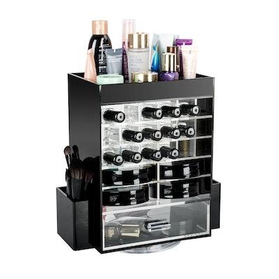 Marksign 360-Degree Rotating Makeup Organizer