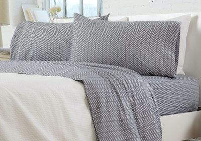 Great Bay Home Jersey Knit Cotton Sheet Set