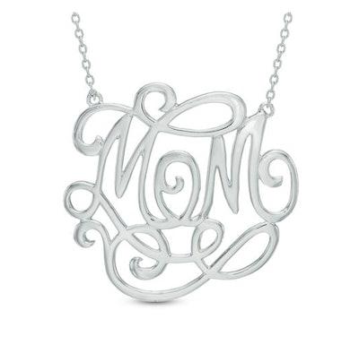 "Monogram-Style ""MOM"" Necklace"