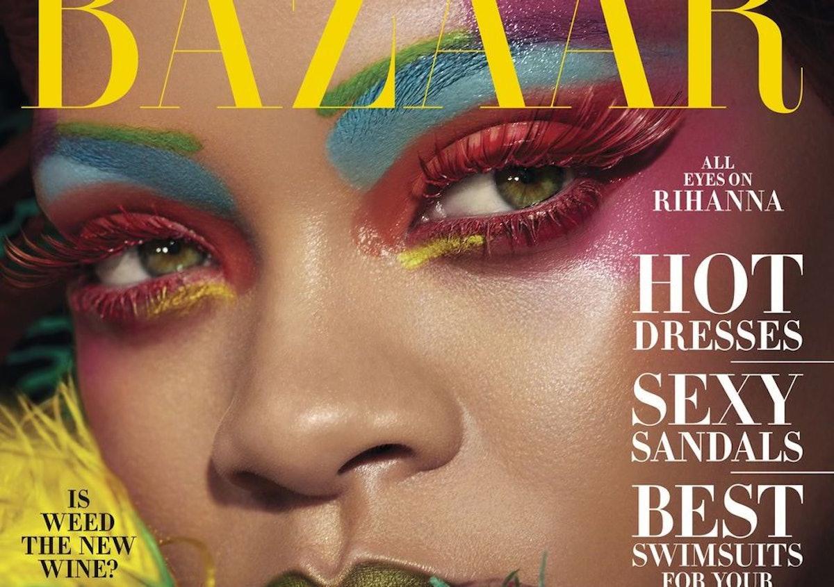 Rihanna's 2019 Harper's Bazaar Cover Features A Secret Fenty Beauty Product