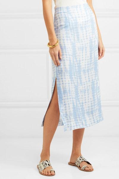 Penny Tie-Dye Jersey Midi Skirt