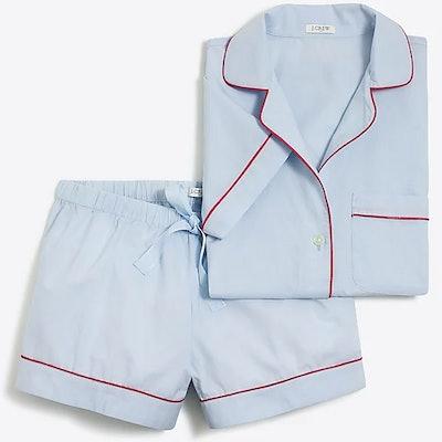 Short-sleeve end-on-end pajama set