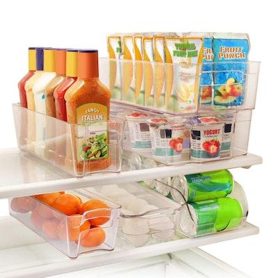 Greenco Refrigerator Organizer Bins (Set of 6)
