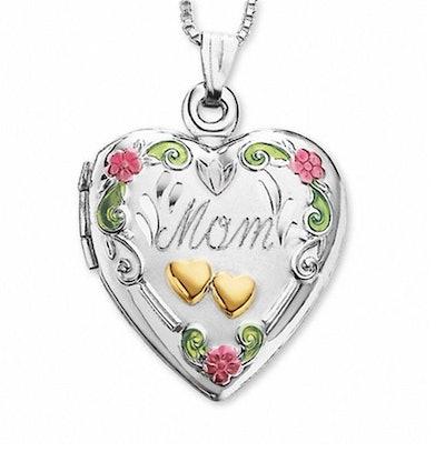 """""""Mom"""" Heart Locket"""