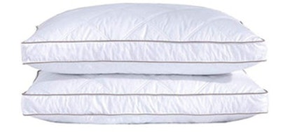 Puredown Natural Goose Down Feather Pillows (Set of 2)