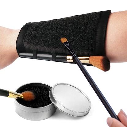 Esarora Makeup Brushes Color Removal Sponge & Armband