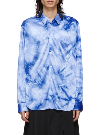 Blue Jersey Bright Uneven Dyed Shirt
