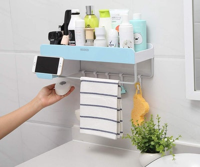 iHEBE Adhesive Bathroom Shelf