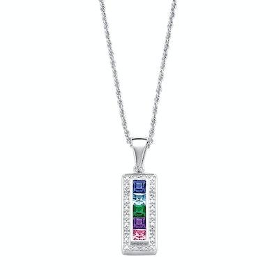 Diamond Accent Bar Pendant