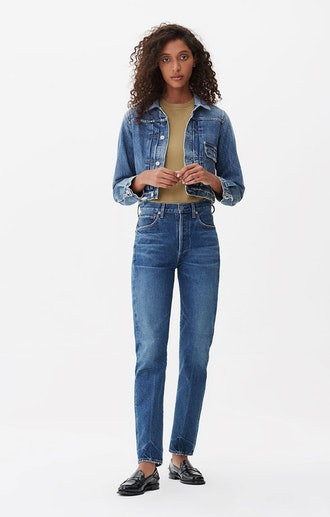 Campbell High-Rise Relaxed Straight Jeans in Medley