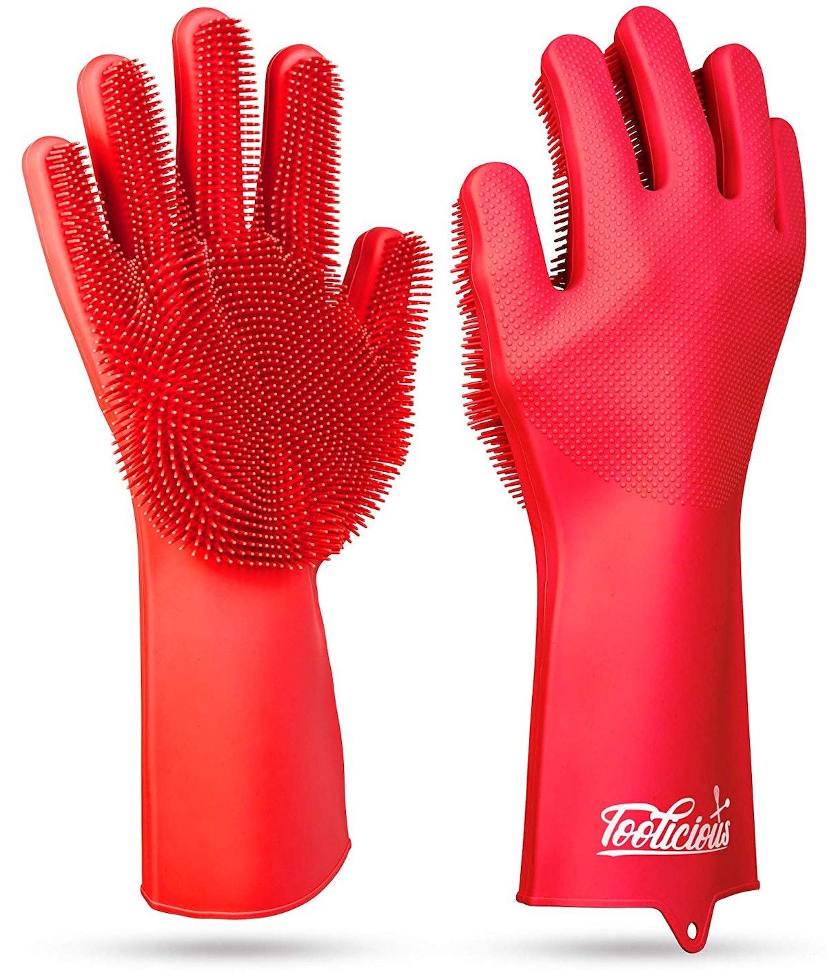Toolicious Magic SakSak Reusable Silicone Dishwashing Gloves