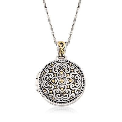 Bali-Style Locket Necklace