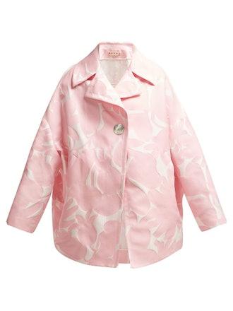 Avery Floral Jacquard Coat