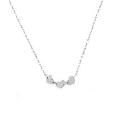 Engravable 3-Heart Necklace