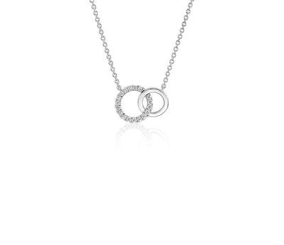 Mini Duet Circle Diamond Necklace