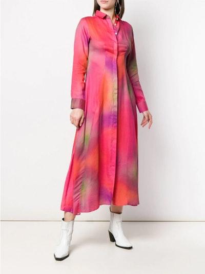 Tie-Dye Shirt Dress