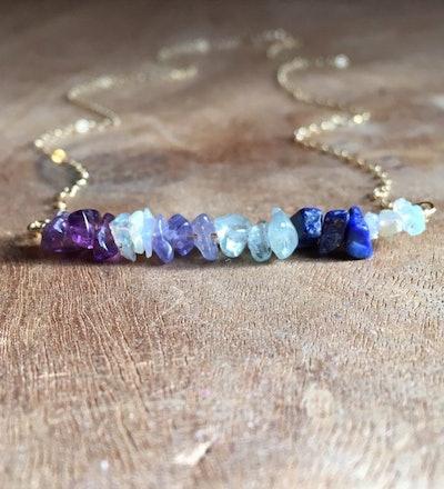 Raw Crystal Birthstone Necklace