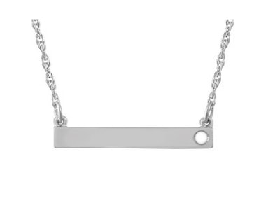 Bar Family Necklace