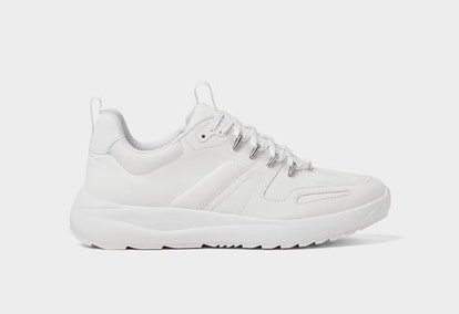 Thick-Soled White Sneakers