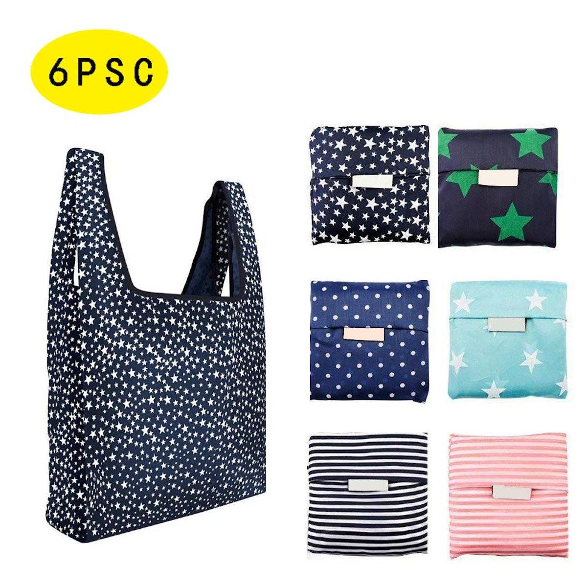 Huangchao Reusable Shopping Bags (6 Bags)