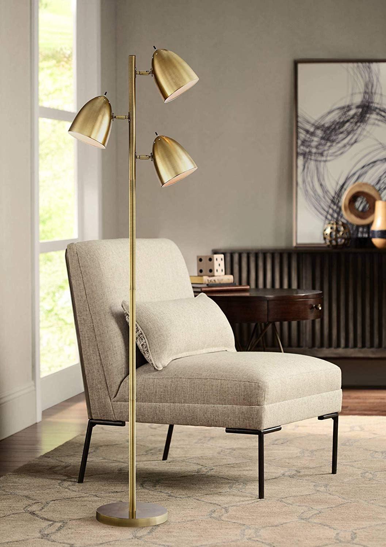Metal Adjust Neck Stand Flexible Floor, Living Room Light Stand