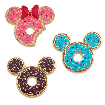 Mickey and Minnie Mouse Donut Pin Set