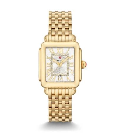 Deco Madison Mid Gold Diamond Dial Watch
