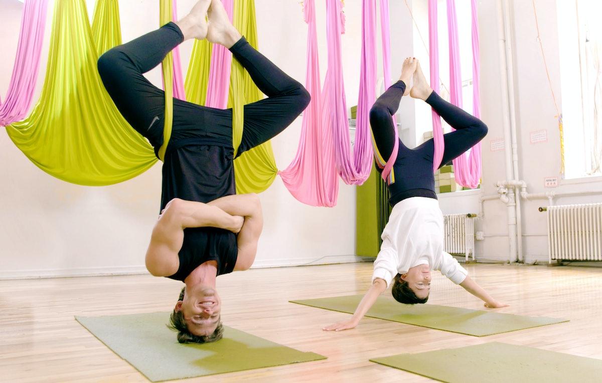 I Did Aerial Yoga With Antoni Porowski & Mastered The