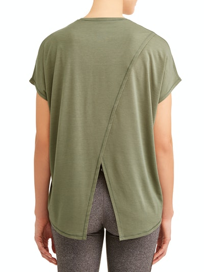 Athletic Works  Women's Active Everywhere Short Sleeve Wrap Back T-Shirt