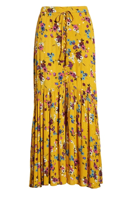 Band of Gypsies Marseille Button Front Maxi Skirt