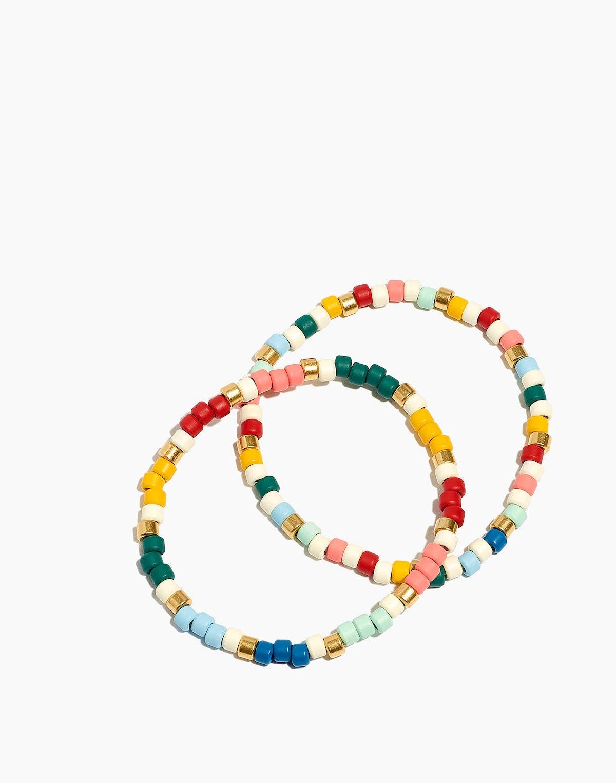 Enamel Beaded Bracelet Set