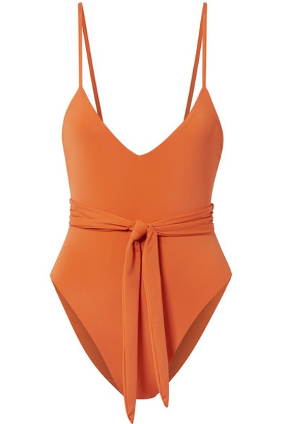 Mara Hoffman Gamela belted swimsuit