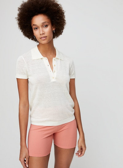 Wilfred Free Tayla Knit Top Knit Polo Top