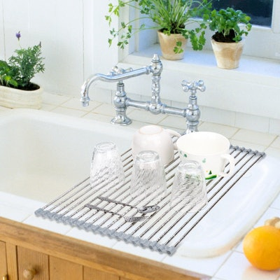 Hhyn Stainless Steel Roll Up Dish Drying Rack