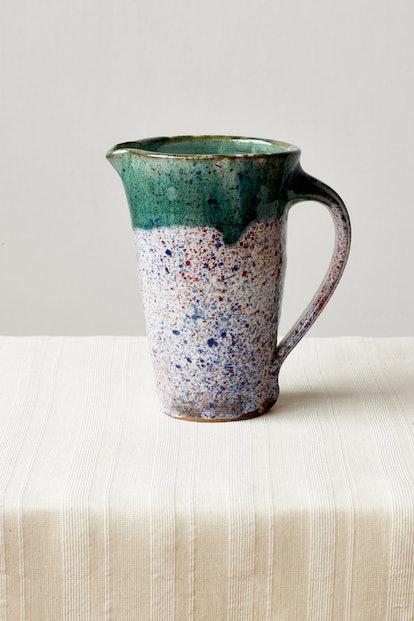 Ceramic Pitcher in Emerald Speckle